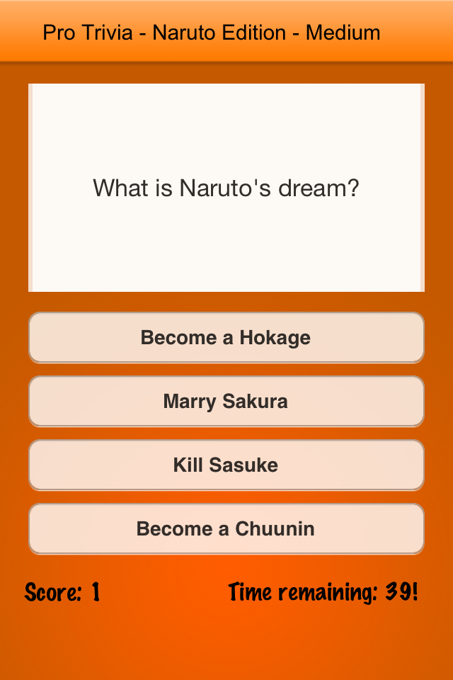 Screenshot Pro Trivia – Naruto Edition